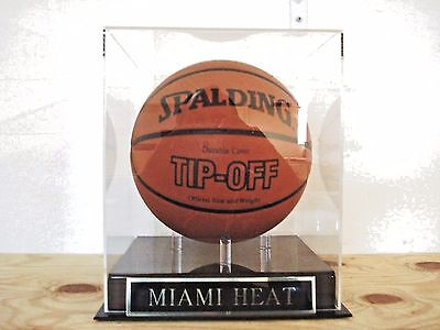 100% Quality Basketball Display Case For Your Miami Heat Team Autographed Basketball