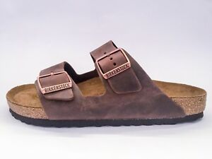 Image is loading Birkenstock-Arizona-Classic -Sandals-Leather-Habana-Soft-Footbed cd138e43f5b