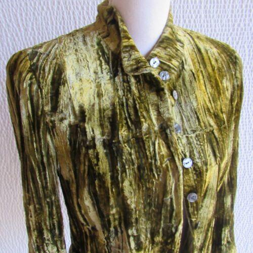 Green Crushed Velvet Blazer 6 Vintage Designer Bar