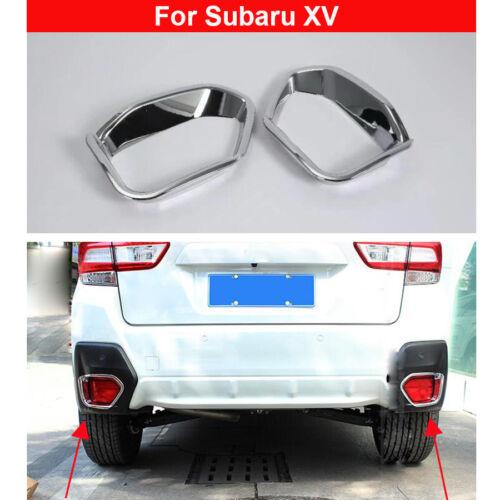 2PCS Chrome Rear Fog Light Lamp Cover Decorate Trim For Subaru XV 2018-2019