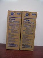 Pair Of Genuine Konica Pc/ua950-414 Ua950-414 Black Toner Cartridges [16c]