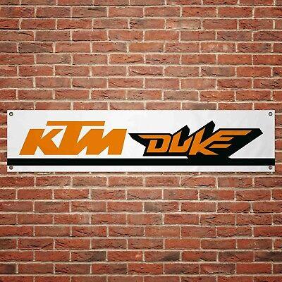 KTM Duke Banner Garage Workshop Motorcycle PVC Sign Moto X Moto GP Display