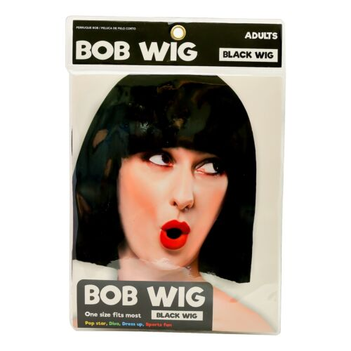 Womens Ladies Cosplay Full Bob Short Wig Fancy Dress Costume Black Blue Red