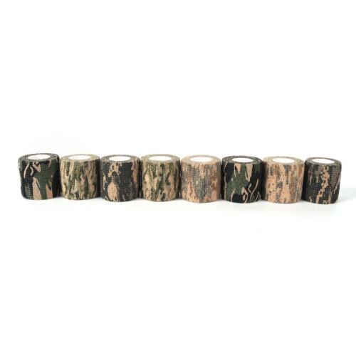 2x 4.5M Military Stretch Medical Bandage Camouflage Tape Self-Adhesive Gun RF