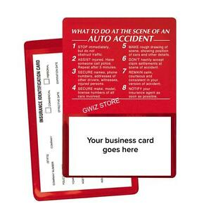 Auto Insurance Registration Card Holders  At The Scene Of An Auto