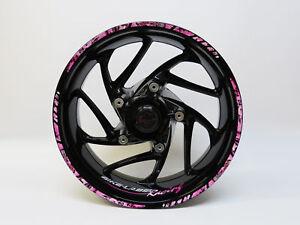 LISERET AUTOCOLLANT Set 710019 Racing Pink Black Bike Car Design 16,17,18 pouces  </span>