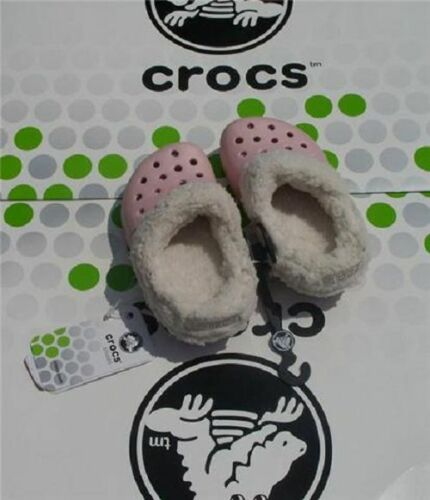 CROCS MAMMOTH BLITZEN POLAR KIDS BAYA CLOG SHOES~Pink White~Toddler C 6//7~NEW