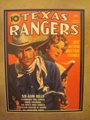 "VINTAGE WESTERN MOVIE POSTER FRAMED /""TEXAS RANGERS/"" APRIL 1942"