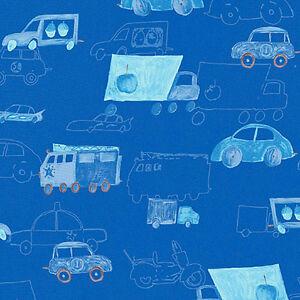 COTTON-FABRIC-CLOTH-BEDDING-FABRIC-CUTE-CARS-BLUE-44-034-W