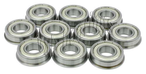 10 Bearings 2 x 6 x 3 Flanged Ball Bearing 2x6 Shielded