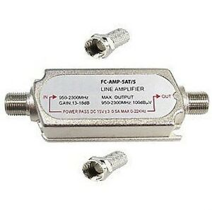 Satellite-amplifier-in-line-signal-booster-Sky-amp-sat-lmb-lnb-2-x-f-connectors
