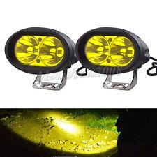 2PCS 20W CREE LED Spot Light Motorcycle ATV Boat Off Road Headlight Yellow IP67