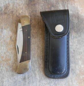 Old Vintage JET-AER G-96 Lockback Pocketknife Knife w/ Original Leather Sheath