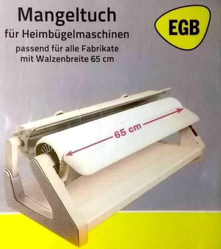 EGB Bügeltuch 65cm breit natur Mangeltuch Leinen Tuch Rolltuch Mangel Leinentuch