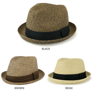 411a2d96df8b0 Image is loading Men-039-s-Lightweight-Crushable-Upturn-Brim-Straw-
