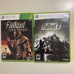 Fallout 3 & Fallout New Vegas Microsoft Xbox 360 Lot Bundle Video Game Bethesda