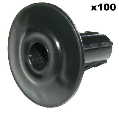 2X 8mm Black Single Cable Bushes-Feed Through Wall Cover-Coaxial//Coax Hole//Entry Tidy Cap Grommet-Satellite-Brick-Plate-RG6-CCTV