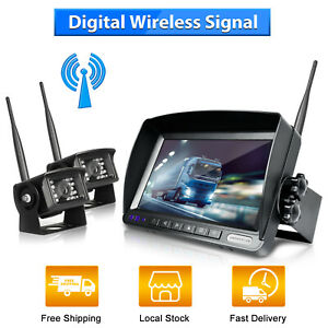 "Wireless 7"" Monitor Car Backup Camera Rear View HD Parking System Night Vision"