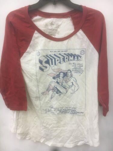 DC COMICS TRUNK LTD SUPERMAN woman white with red  SZ L,M,S /& XS