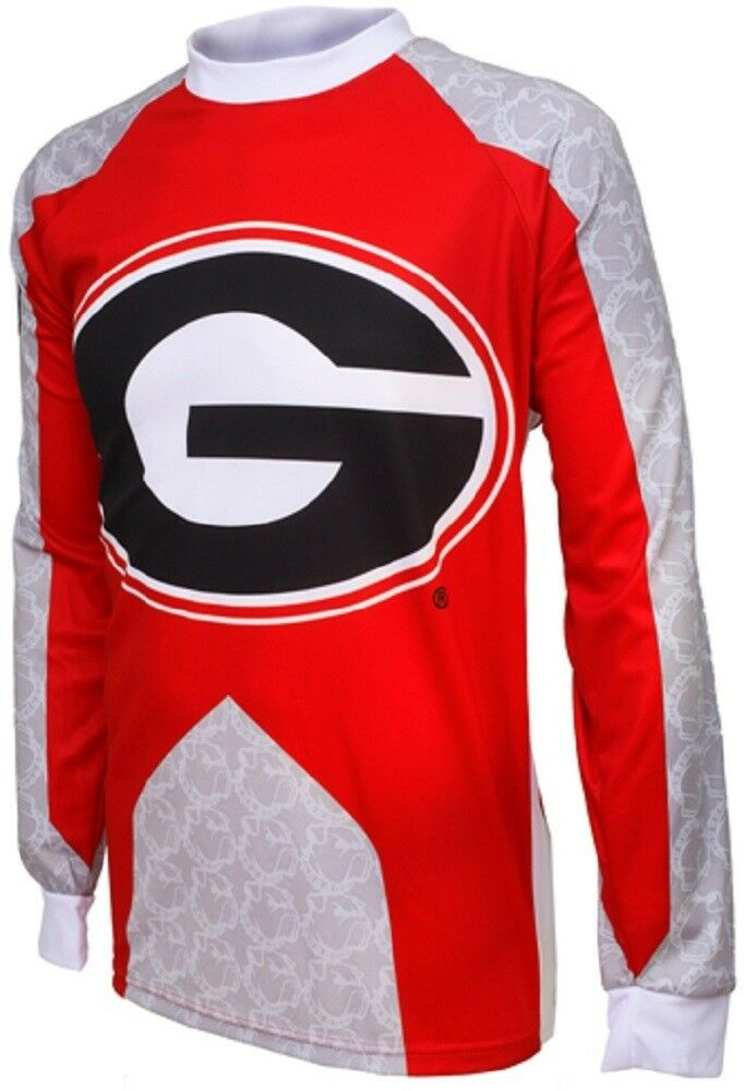 NCAA Men's Adrenaline Promotions  Georgia Bulldogs MTB Cycling Jersey  take up to 70% off