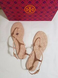 ae810943c0966 NIB Tory Burch Marion Quilted Leather T-Strap Sandal Clay Pink Size ...