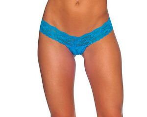 Body-Zone-Apparel-Lace-amp-Lycra-Thong-Panty-Made-in-the-USA-O-S-1144LA