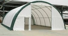 Gm 30x65x15 105 Oz Pe Canvas Fabric Coverall Storage Building Shop Shelter