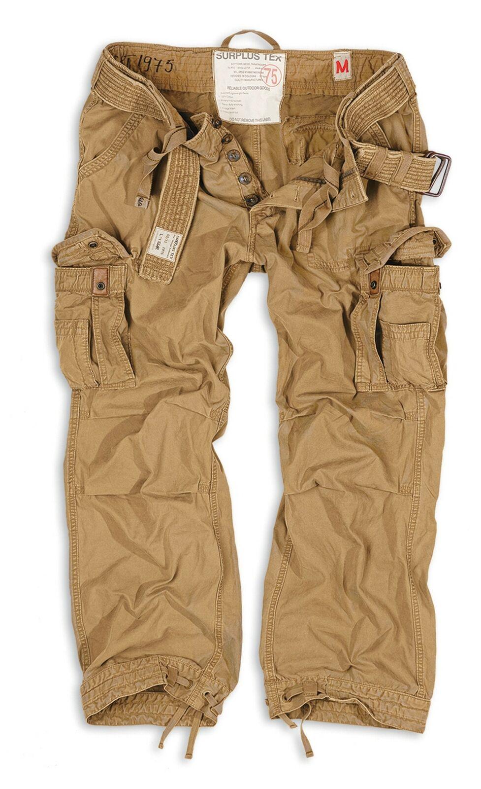 Surplus Uomo Pantaloni Pantaloni Pantaloni Cargo Premium Vintage Trousers 69b3a6