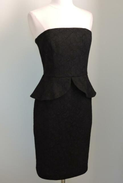 8507c491ab NWT WHITE HOUSE BLACK MARKET Strapless Lace Peplum Dress 4 ( Small ) $200.00