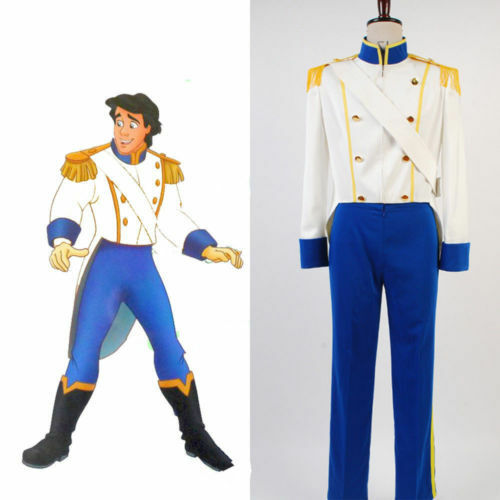 Disney The Little Mermaid Prince Eric Cosplay Costume Attire Outfit Tuxedo