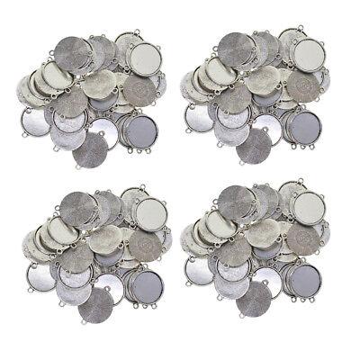 50pcs Tibetan Silver Round Cameo Cabochon Setting 12-20mm Pendant Blanks Tray