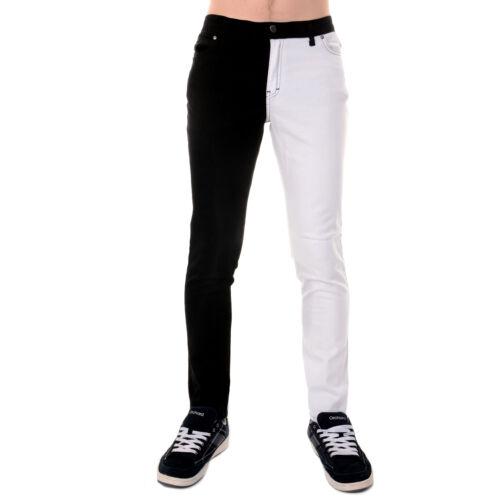 et unisexe tubulaire unisexe Punk moulant noire Rock blanc jambe ᄄᆭlastique Homme qMVpSzU