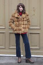 Made in England Damen Kunstfell Jacke jacket braun 70er True VINTAGE 70´s women