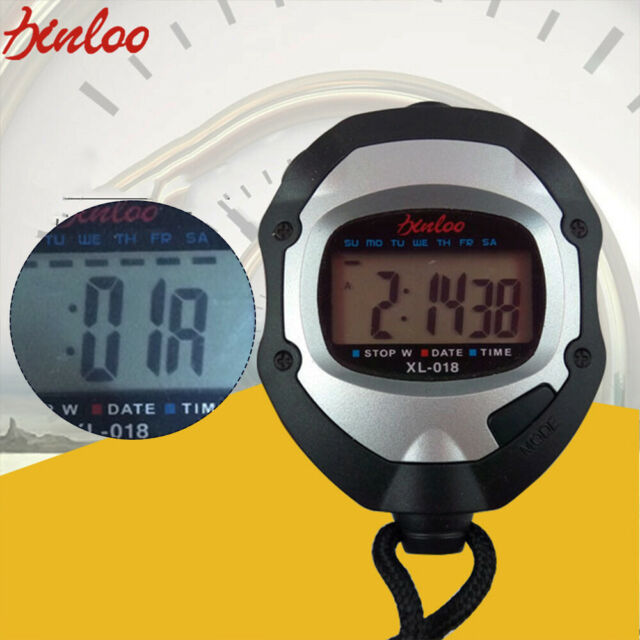 Digital Sport Stopwatch Counter Training Timer Stop Watch Chronograph New