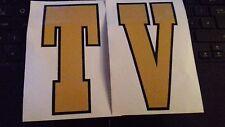 Lambretta TV Gold Legshield Flyscreen Graphic Decals 60's Style