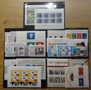 Bund-Bloecke-Sammlung-sauber-postfrisch-25-Stueck-BRD-Block-3-4-5-6-7-21-bis-27