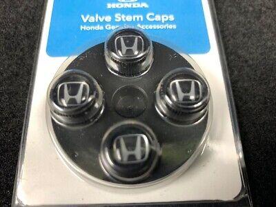 GENUINE HONDA BLACK VALVE STEM CAPS 08W48-PL4-100A