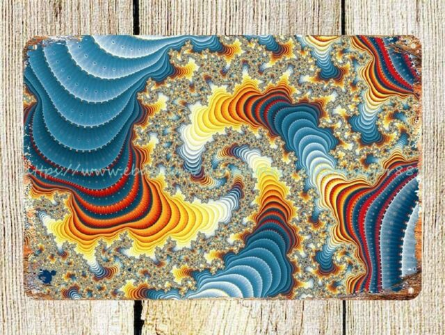 TRIPPY POSTER PSYCHEDELIC FRACTAL PICTURE HUGE  GIANT WALL ART