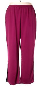 1ccee17aa57320 Liz & Me for CATHERINES Active Wear Pull Up Pants Purple Plus Size ...
