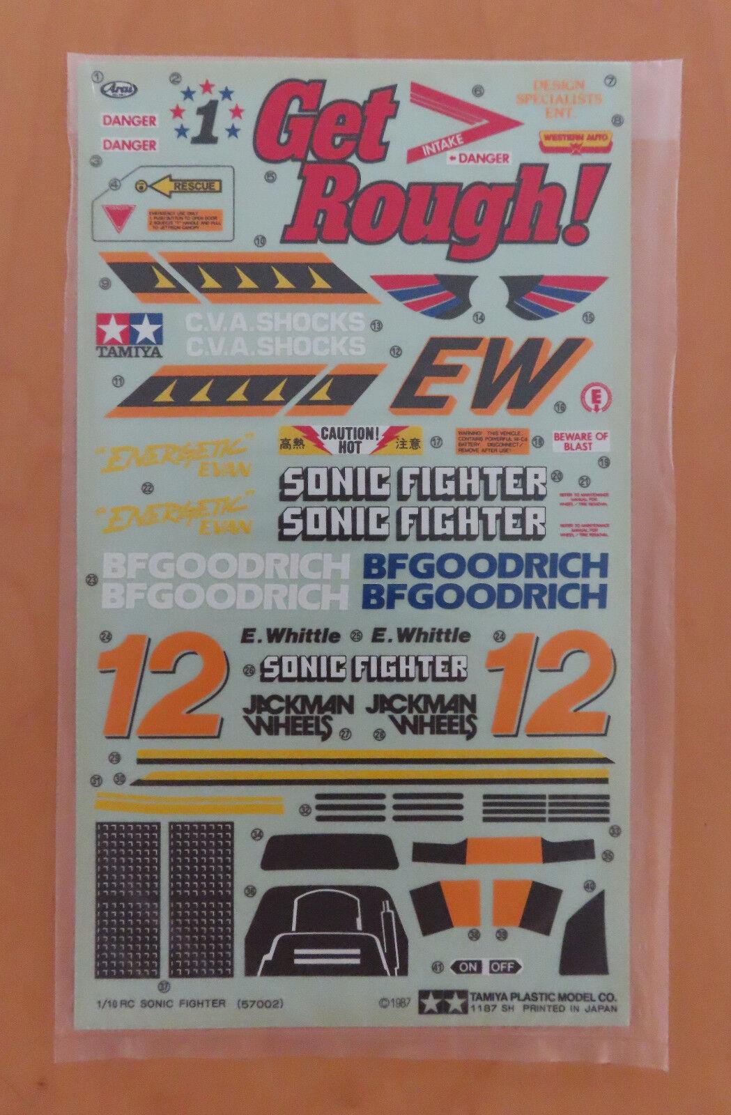 negozio di vendita outlet RC RC RC Tamiya Decalcouomoia Sonic Combatiente 58071 NEU Nuovo con Scatola 1988 ULTIMO  offrendo il 100%