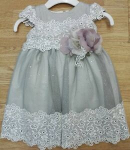 c6a69616b Grey Lilac Baby Girl Summer Sparkly Flower Girl Bridesmaid Party ...