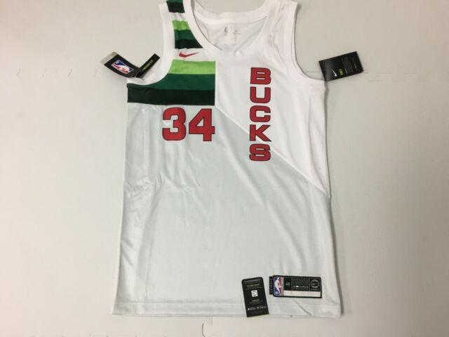 e1829ac132e Men's Nike Giannis Antetokounmpo #34 Milwaukee Bucks Swingman Jersey 2xl