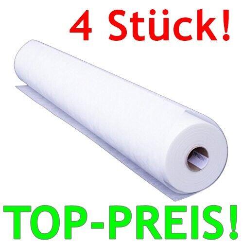 4x TAPETE Glasfaser 50m² Vlies Renovier Anstrich GLATT weiß 50x1m 130g//m² MARKE