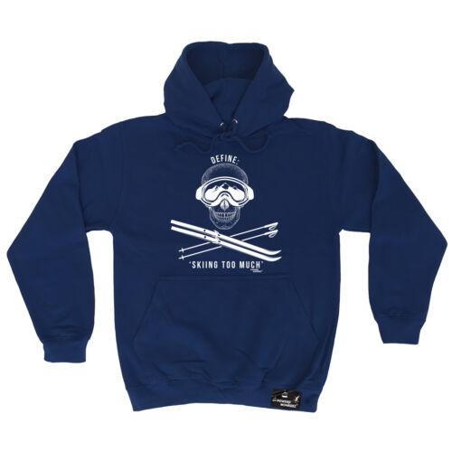 Définir le ski trop poudre MONKEEZ UK Sweat à Capuche Sweat À Capuche Cadeau D/'anniversaire apres ski