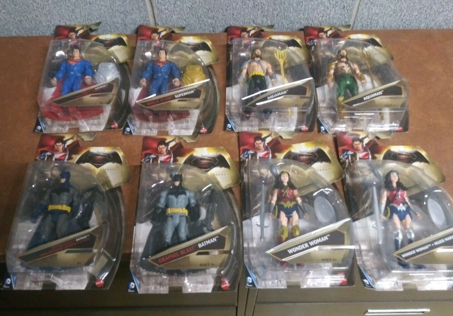 Batman V Superman 6  Figure Lot (8) avec variantes-Superman Batman Wonder Aquaman