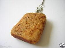 Großer Roh Bernstein Anhänger opak 9,9 g + 1,4 g (835) Silber Kette Raw Amber