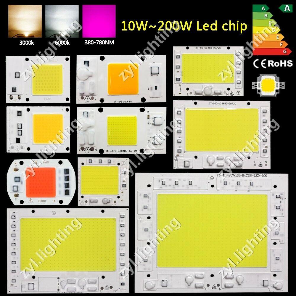 High Power COB LED Chip 20W 30W 50W 220V Warmweiß LED DIY Flutlicht Scheinwerfer