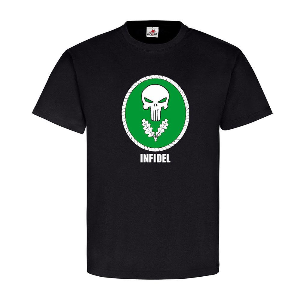 INFIDEL Einzelkämpfer Soldat EKL BW Abzeichen Totenschädel T Shirt