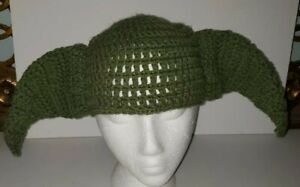 YODA-STAR-WARS-green-Knit-Cap-Baby-Or-Child-Size