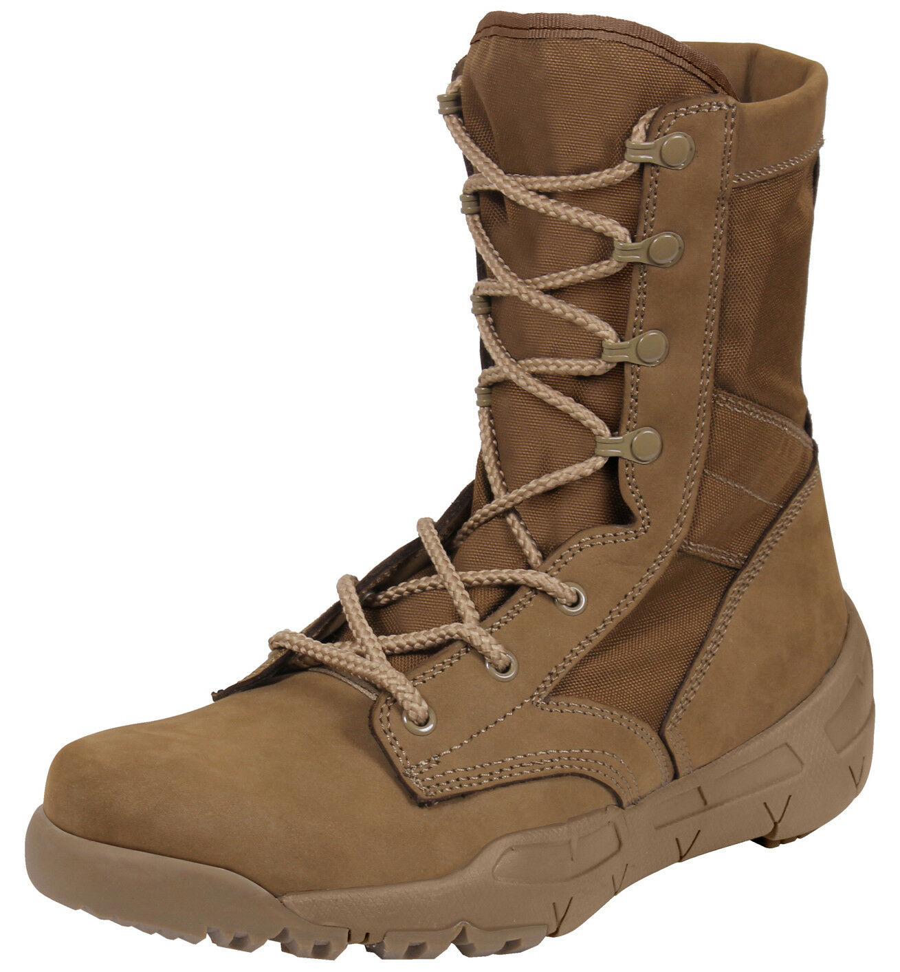 US Army Coyote Brown Military Boot Lightweight V-Max Combat Boots Rothco 5366